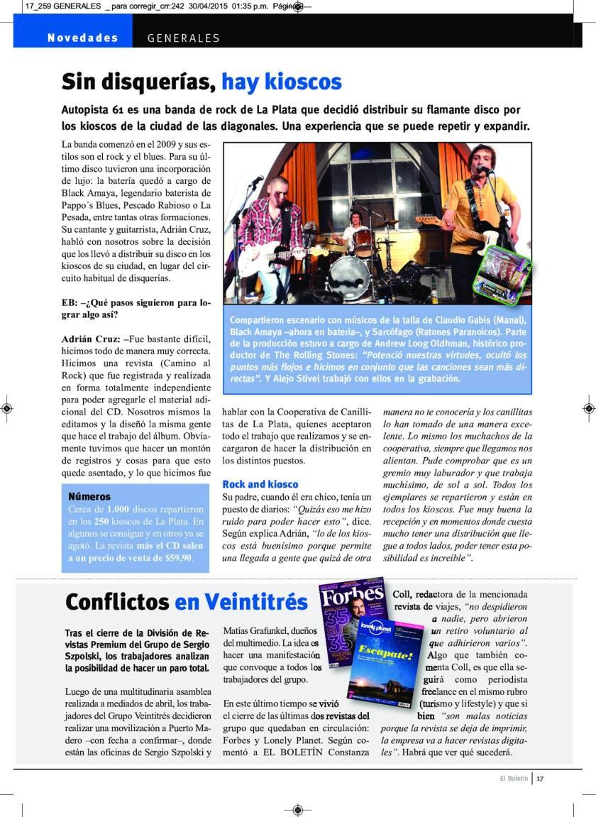 Sin disquerías, hay kioskos - (Revista El Boletín)